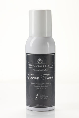 Chocolate Sun Organic Self Tanning Spray - Cocoa Fleur Atomizer