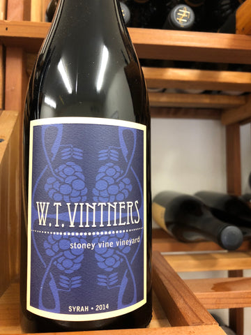 W.T. Vintners Stoney Vine Vineyard Syrah 2014