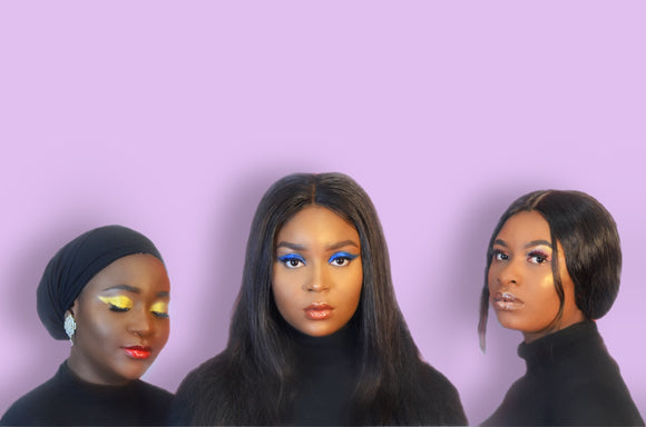 Models L to R products used: HELLO YELLOW Hi-Def Pigment, COPPER Hi-Def Pigment & FIERY Lip Gloss. PACIFIC Hi-Def Pigment, GLOWWW Hi-Def Pigment & NESSA Lip Gloss. FAIRY DUST Hi-Def Pigment, GLOWWW Hi-Def Pigment & BUBBLE GUM Lip Gloss.