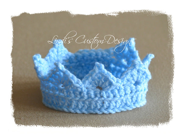 Baby Boy Crochet Newborn Tiara Crown