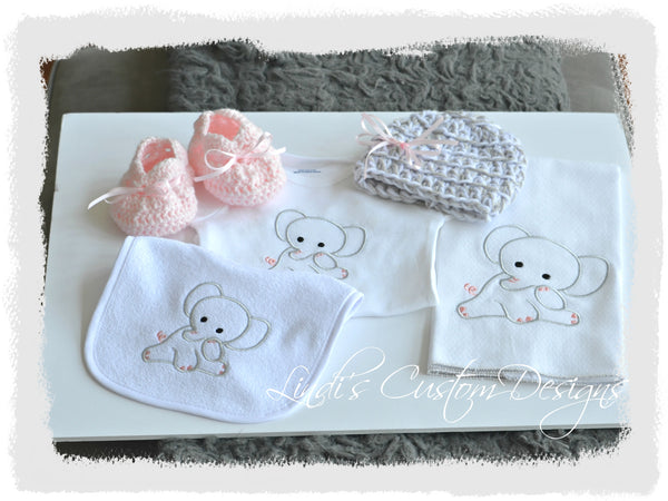 Baby Girl Deluxe Elephant Gift Set