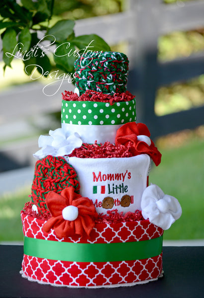 Italian Diaper Cake Mommy's Little Meatball