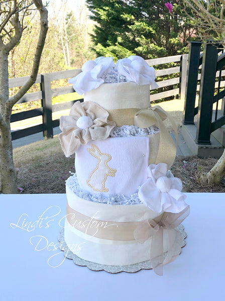 Bunny I Love You Diaper Cake