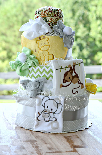 Jungle Babies Safari Diaper Cake
