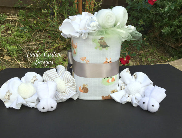 Woodland Animals Forest Mini Diaper Cake
