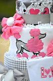 French Poodle Diaper Cake Gift Centerpiece