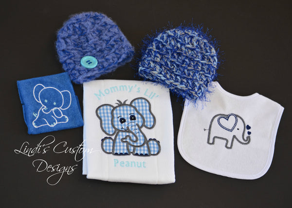 Baby Boy Elephant Shower Gift Set