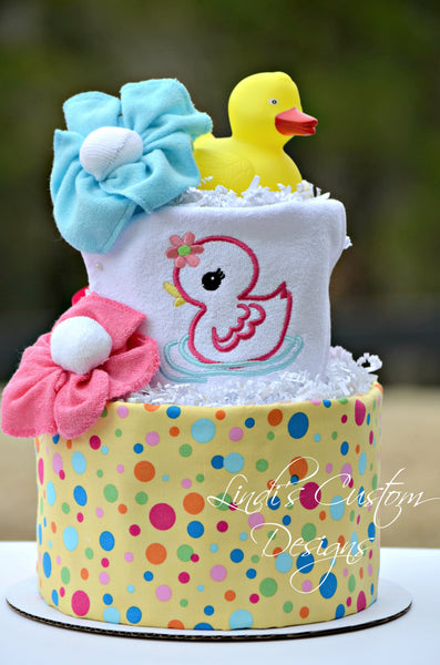 Splish Splash Diaper Cake