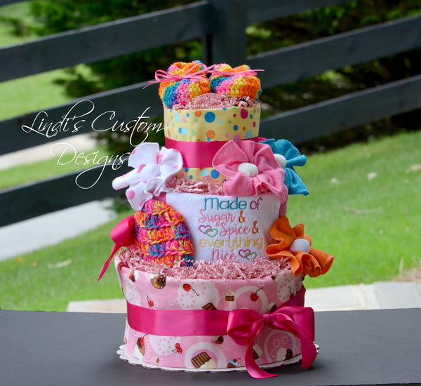 Girl Sugar Spice Diaper Cake