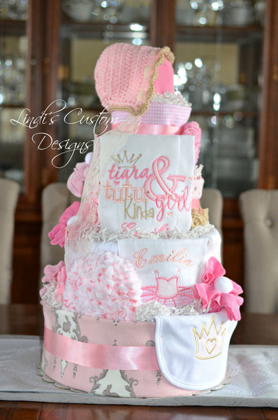 Tutu and Tiara Girl Diaper Cake