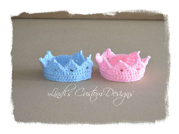 Fraternal Twins Baby Newborn Crown Gift Set
