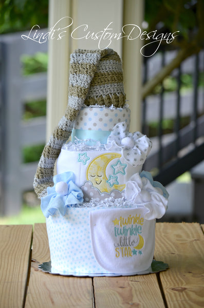Twinkle Diaper Cake Boy Shower Gift