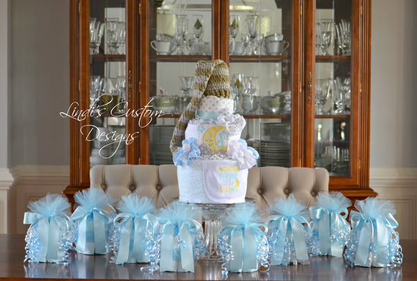 Twinkle Little Star Baby Shower Diaper Cake Gift Set
