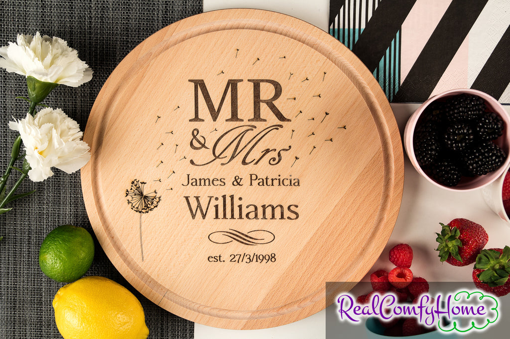 Personalized wedding cutting boards