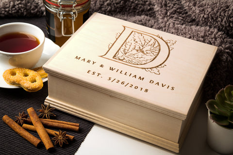Personalized tea & keepsake boxes