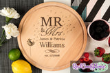 Mr & Mrs personalized cutting board