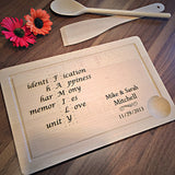 Family Principles - Family Gift - Personalized Cutting Board