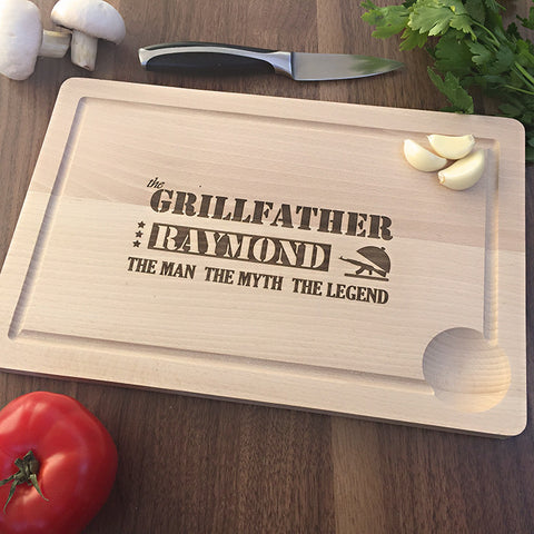 The Grillfather Cutting Board - Personalized Gift For Father