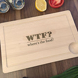 WTF - Where's The Food - Cool Engraved Birthday Gift