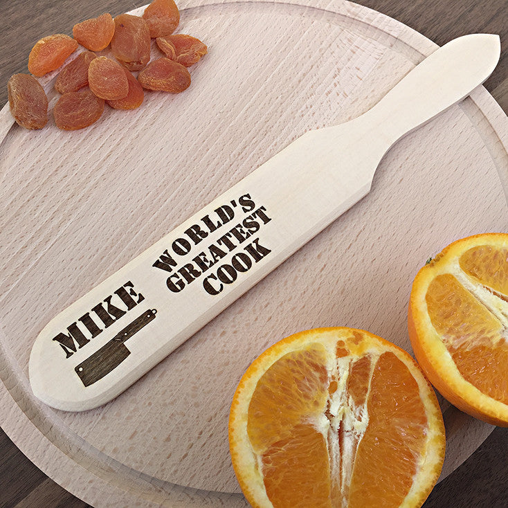 World's Greatest Cook - Personalized Spatula - Cool Gift Idea