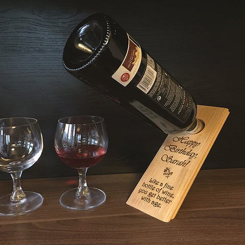 You Get Better With Age - Personalized Small Birthday Gift - Wine Bottle Balancer