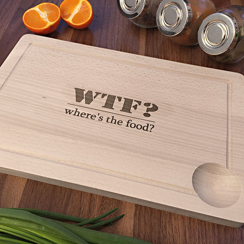 Where's The Food - Birthday Gift Idea - Funny Engraved Kitchen Gift