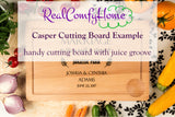 Mr & Mrs Personalized Cutting Board - Ideal Housewarming Gift For Family