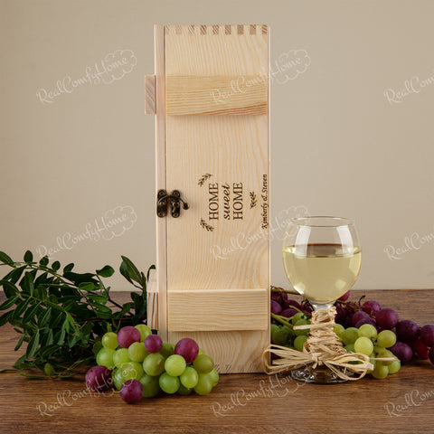 Home Sweet Home Gift - Personalized Wine Box