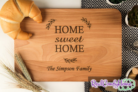Home Sweet Home - Personalized Cutting Board