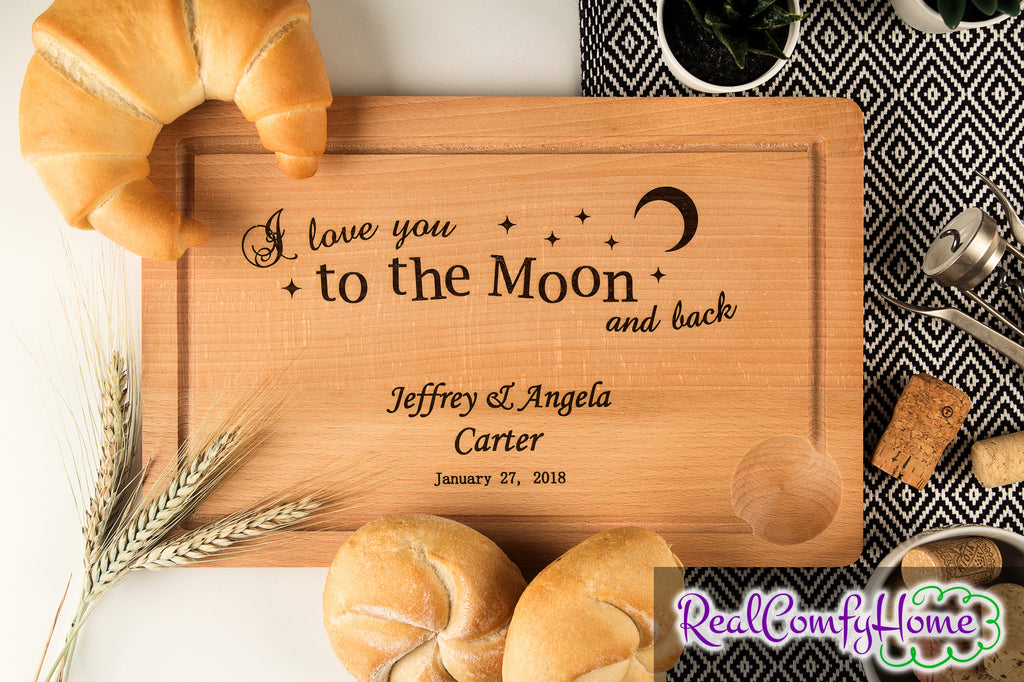 I Love You To The Moon And Back - Housewarming Gift For Loved One