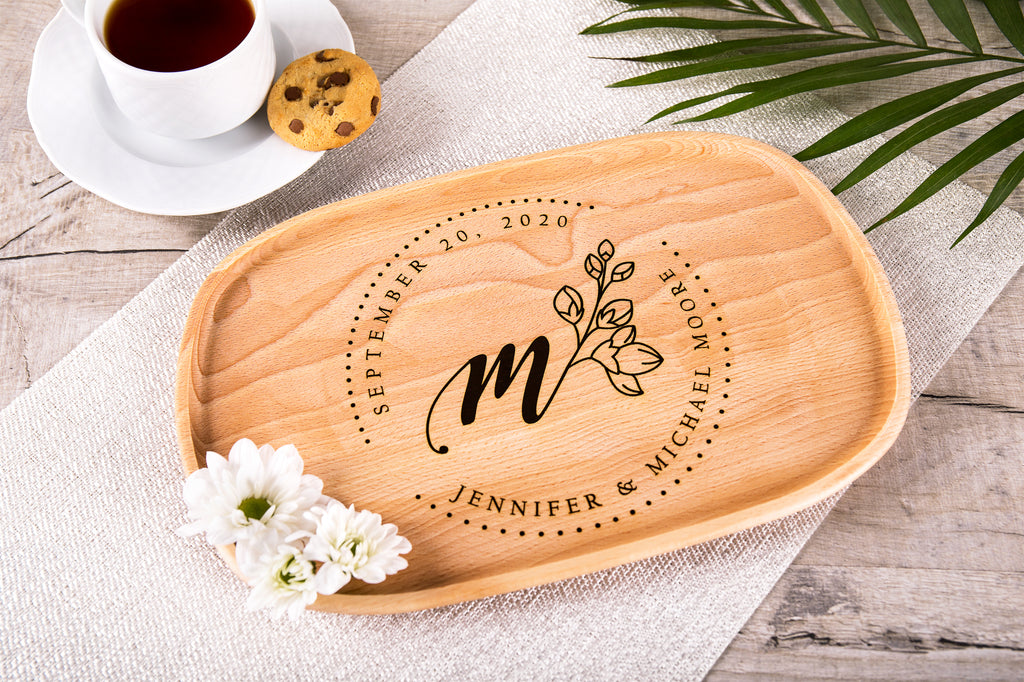 Monogrammed Platter - Personalized Gift For The Couple