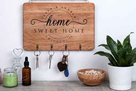 Home Sweet Home Key Rack - Personalized Housewarming Gift