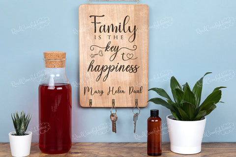 Personalized Family Names Key Holder - Housewarming Gift