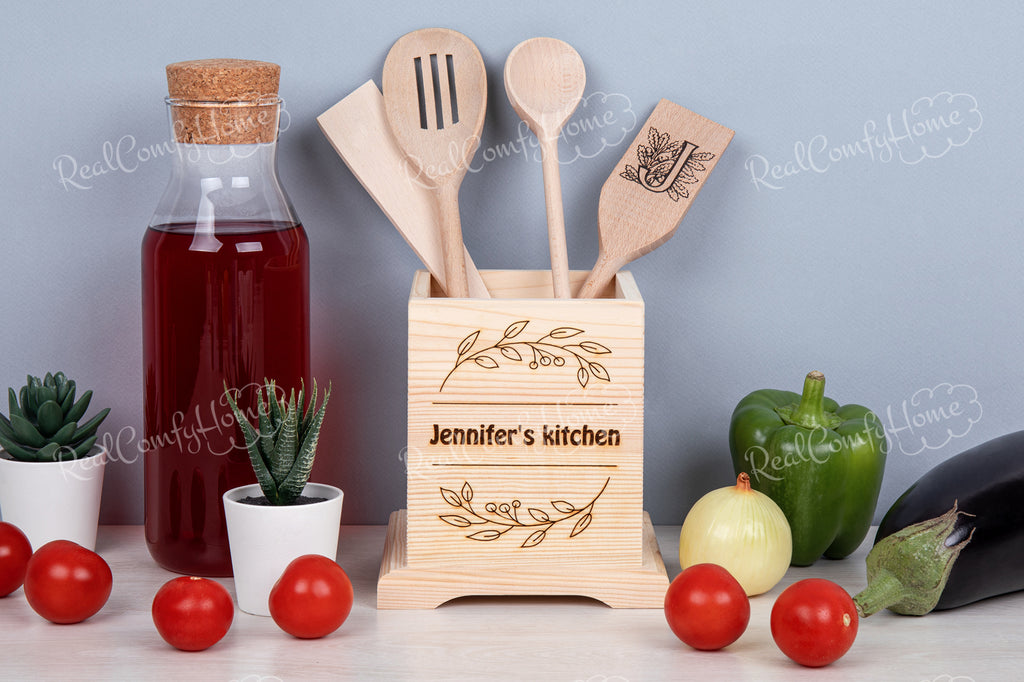 Birthday Gift For Her- Kitchen Utensil Holder