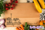Lovers' Bench - Engraved Cutting Board with Personalization