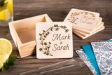 Engraved Coasters - Personalized Gift For The Couple