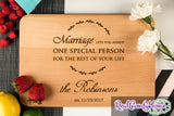 Annoy One Special Person - Funny Wedding Cutting Board With Personalization