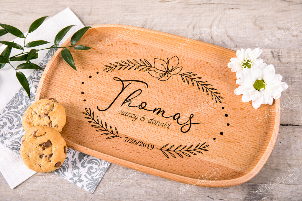 Decorative Coffee Tray - Engraved Wedding Gift