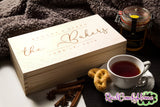 Box With Engraved Family Name - Personalized Tea or Keepsake Box