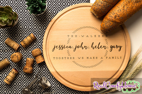 Together We Make A Family - Personalized Cutting Board