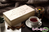 A True Love Story Never Ends - Engraved Tea Or Keepsake Box