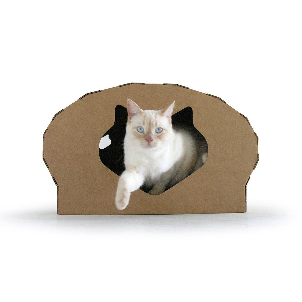 Kittypod Dome Cat Play House Lounge Scratcher Bed, Recycled Cardboard