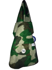 Cat Dog Pet Hoodie Jacket, Fleece Camouflage