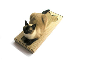Kittypod Lil Pawpaw Cat Scratcher Lounge, Recycled Cardboard