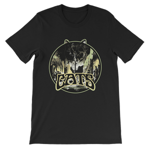 """Cats Of The Earth"" Men's Lightweight T, 4 Colors - Heather Grey, Black, White"