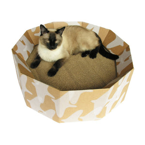 Kittypod Iti Cat Scratcher Bed, Recycled Cardboard