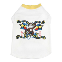 "Cat Dog Pet T Shirt, Cotton ""Monkey Star Pop Art"""