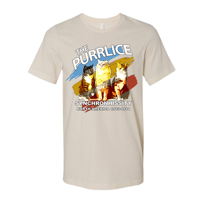 The Purrlice Synchronhissity Graphic Tee, Unisex