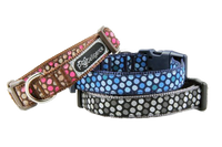 Cat Dog Pet Collar, Retro Modern Polka Dots - 3 Colors