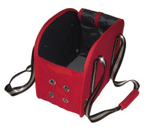 Cat Dog Pet Carrier, Red w/ Retro Stripe Dome Travel Bag